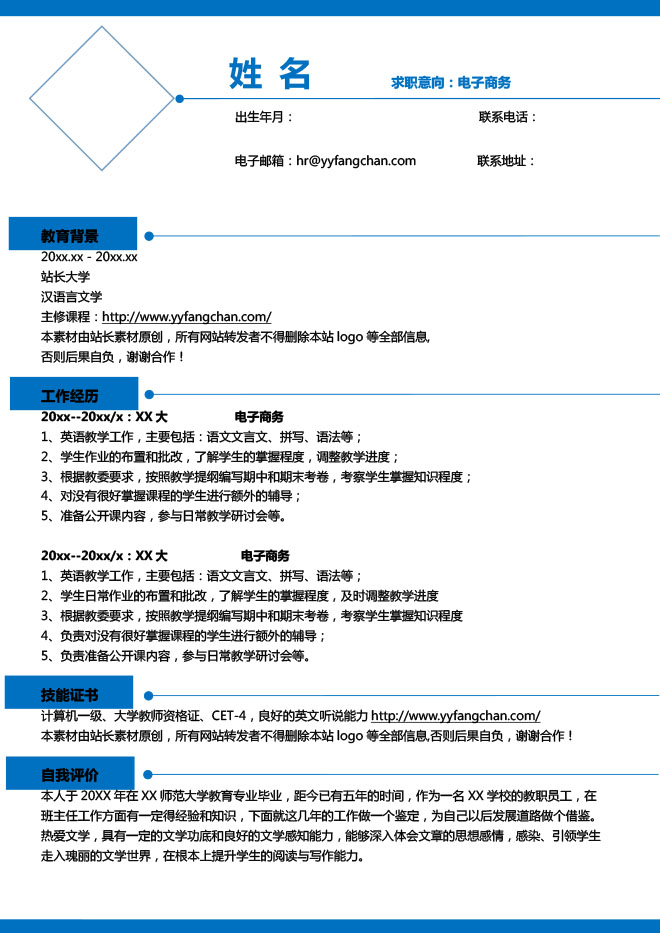 电子商务网站编辑简历模板.jpg